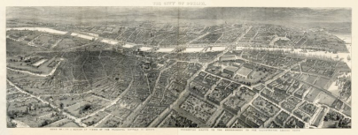 Detail, A Panorama of the City of Dublin (1846) showing Ely Place